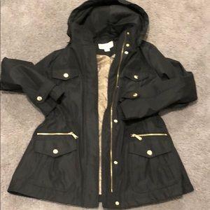 Michael Kors black rain coat